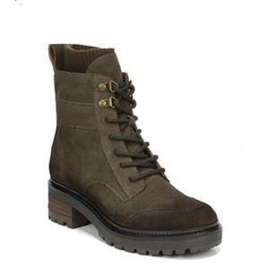 NIB Zodiac Genuine Suede Lace-Up Army Green Boots